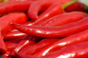 Die roten Schoten haben es in sich (Foto: Petra Bork, pixelio.de)