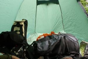 Unordnung im Zelt