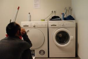 Warten auf trockene Wäsche