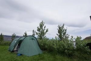 Unser Zelt in Mosfellsbær
