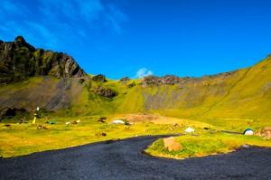 Zelten im Vulkankegel