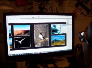 Die Zusammenstellung der Bilder am Computer