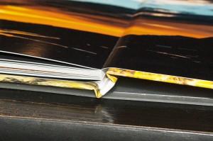 Die besondere Bindung ermöglicht es, breite Bilder nahtlos über eine Doppelseite darzustellen