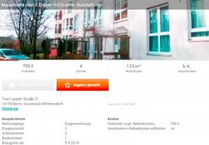 Unglaubliches Angebot: Große Maisonette-Wohnung im Grunewald zum Preis einer Bleibe im Plattenbau (Foto: Screenshot ImmobilienScout24-App)